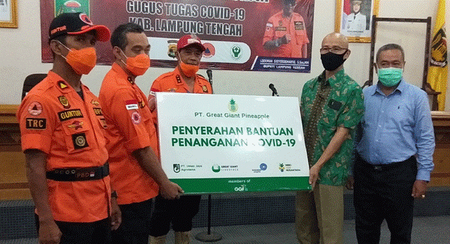 PT GGP Gave 32,900 PPE Donations to the Central Lampung Task Force