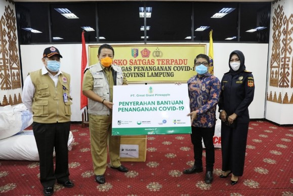 PT GGP Handed Over 131 thousand PPE Donations to the Lampung Provincial Government