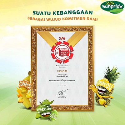 "Sunpride Received ""Best Branded Fruit"" Award from IOB"