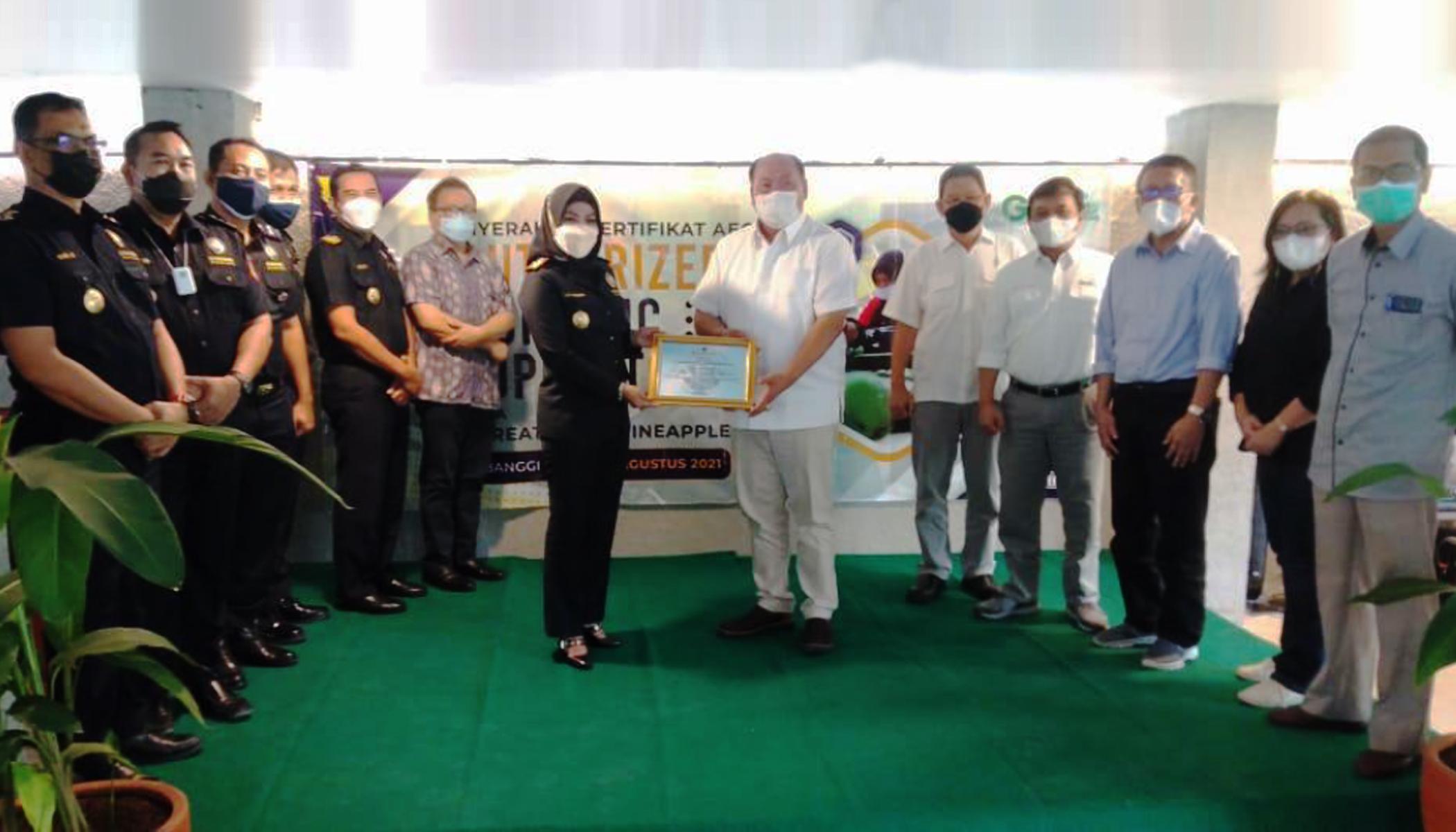 PT GGP Kantongi Sertifikat AEO dari Bea Cukai